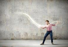 Man magician Stock Image