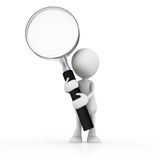 Man with magnifying glass Stock Photo
