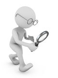 Man with a magnifying glass. Royalty Free Stock Images