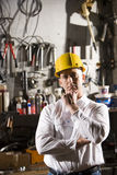 Man in maintenance room Stock Photo