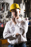 Man in maintenance room Stock Photos