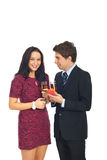 Man make proposal on Valentine's day Stock Photography
