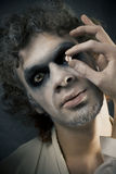 Man in make-up Royalty Free Stock Images