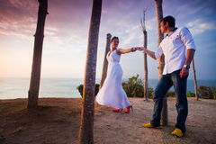 Man makes a proposal to his girlfriend Stock Images
