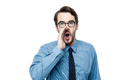 Man making an announcement Royalty Free Stock Photo