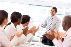 Man making a business presentation Stock Photography