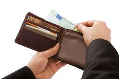 Man making a cash payment Royalty Free Stock Photos