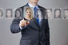 Man making a choise royalty free stock photography