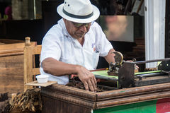 Man making cigars Royalty Free Stock Photos