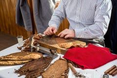 Man making cigars Royalty Free Stock Image