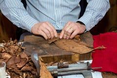 Man making cigars Royalty Free Stock Images
