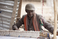 Man making cloth in Ethiopia Royalty Free Stock Images