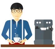 Man making coffee. Royalty Free Stock Photos