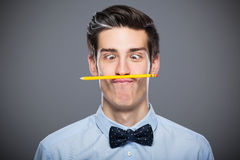Man making faces Royalty Free Stock Images