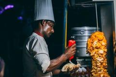 Man Making Food stock images