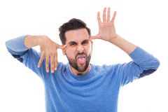 Man making a funny face Royalty Free Stock Photos