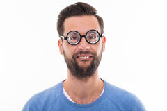 Man making a funny face Stock Photo