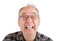 Man Making Funny Faces royalty free stock images