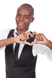 Man making heart sign with his hands Royalty Free Stock Image
