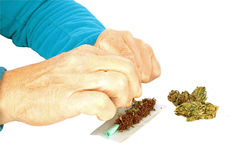 Man making a joint Stock Image