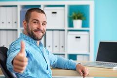 Man making the ok gesture Stock Photo