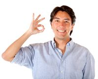 Man making an ok sign Royalty Free Stock Photography