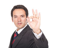 Man making ok sign Stock Photography
