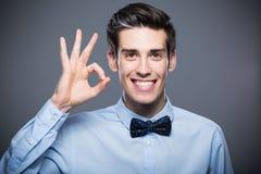 Man making OK sign Royalty Free Stock Photography