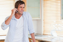 Man making a phone call Royalty Free Stock Images