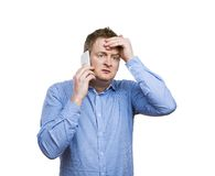 Man making a phone call Stock Photography