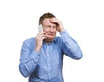Man making a phone call Royalty Free Stock Photo