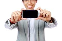 Man making photo on smartphon Royalty Free Stock Photos