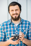 Man making picture Stock Image