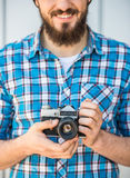 Man making picture Royalty Free Stock Photography