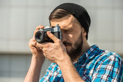 Man making picture Stock Photography