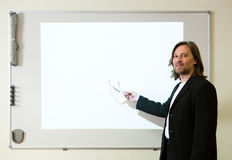 Man making a presentation Royalty Free Stock Photo