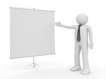 Man making presentation copyspace Royalty Free Stock Photos