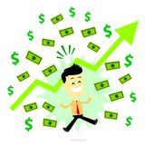 Man Making Profit in Business Stock Photography