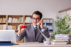 The man making proposal over phone Stock Photos