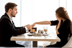 Man making proposal to his girlfriend at the Royalty Free Stock Photo