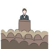 Man Making Public Speech royalty free illustration