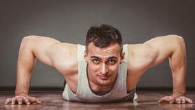 Man making pushups, Royalty Free Stock Photos