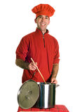Man Making Soup Royalty Free Stock Photos