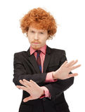 Man making stop gesture Royalty Free Stock Image