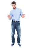 Man making stop gesture Stock Image