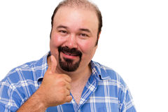 Man making a thumbs up gesture Stock Photo