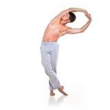 Man is making yoga Royalty Free Stock Image