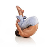 Man is making yoga Royalty Free Stock Photo