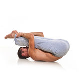 Man is making yoga Stock Photos