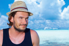 Man at Maldives Stock Photography